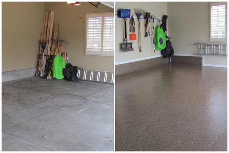Columbus Garage Floor Coating Residential Before & After